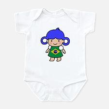 Brazil Flag Girl Infant Bodysuit