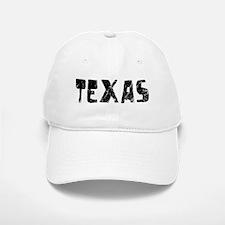 Texas Faded (Black) Baseball Baseball Cap