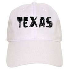 Texas Faded (Black) Baseball Cap