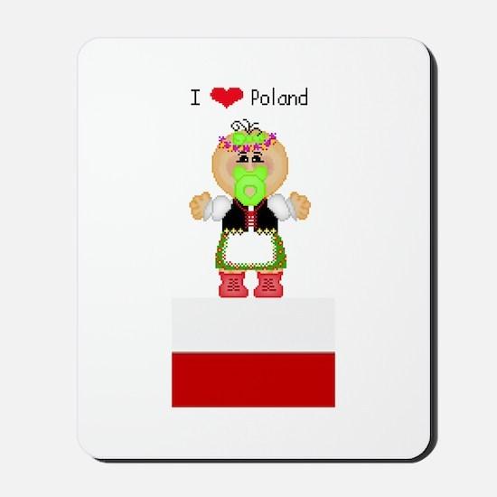 I Love Poland Mousepad