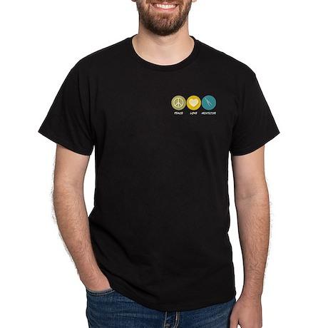 Peace Love Architecture Dark T-Shirt