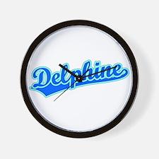 Retro Delphine (Blue) Wall Clock