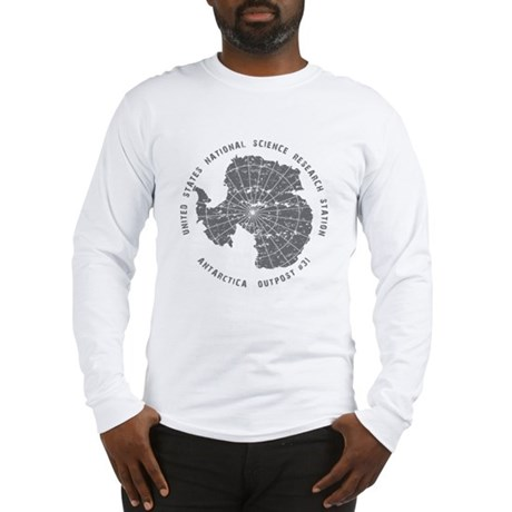 Outpost 31 on White Long Sleeve T-Shirt