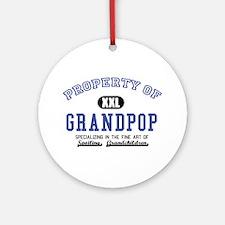 Property of Grandpop Ornament (Round)