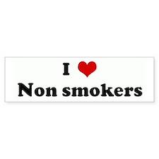 I Love Non smokers Bumper Bumper Sticker