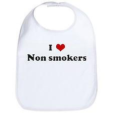 I Love Non smokers Bib