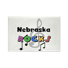 Nebraska Rocks Rectangle Magnet