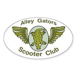 Alley Gators Scooter Club Oval Sticker