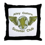 Alley Gators Scooter Club Throw Pillow