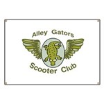 Alley Gators Scooter Club Banner