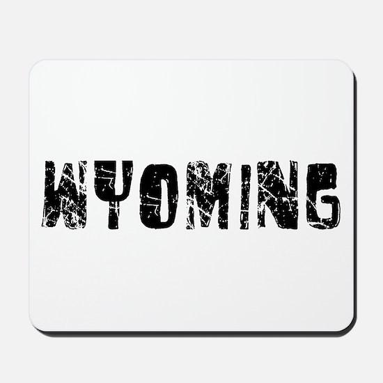 Wyoming Faded (Black) Mousepad