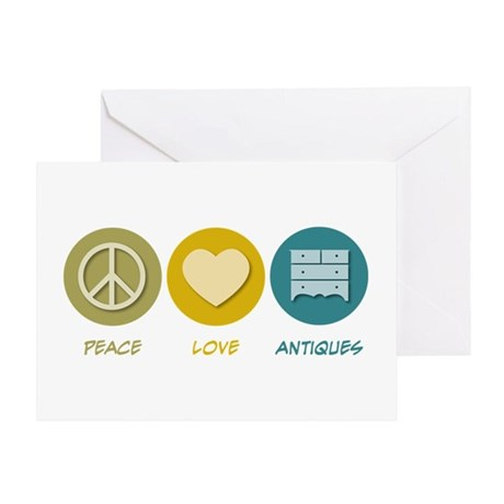 Peace Love Antiques Greeting Card