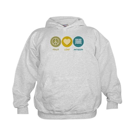 Peace Love Antiques Kids Hoodie