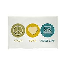 Peace Love Antique Cars Rectangle Magnet