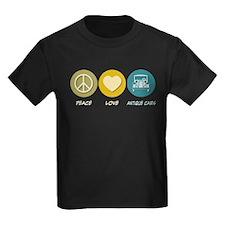 Peace Love Antique Cars T