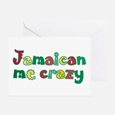 Jamaican me crazy Greeting Card
