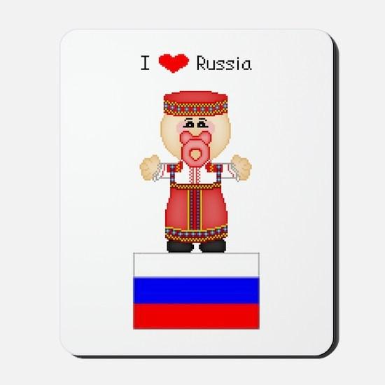 I Love Russia Mousepad