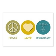 Peace Love Anthropology Postcards (Package of 8)