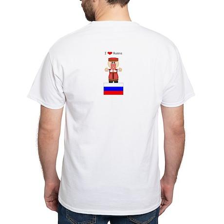 I Love Russia White T-Shirt