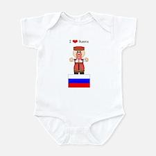 I Love Russia Infant Creeper