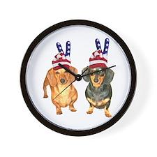 USA Peace Hats Wall Clock