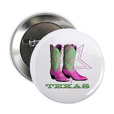 """Texas Boots! 2.25"""" Button"""