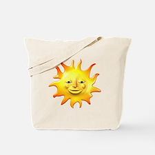 Retro Style Sun Tote Bag