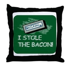 Steal the Bacon Throw Pillow