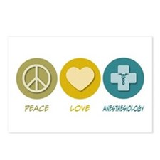 Peace Love Anesthesiology Postcards (Package of 8)