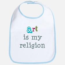 Art is My Religion Bib