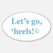 Cute North carolina tar heels Sticker (Oval)