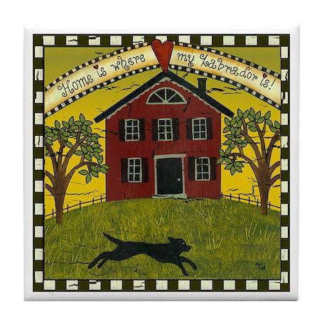 Primitive Labrador Tile Coaster