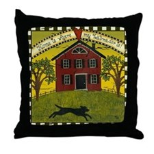 Primitive Labrador Throw Pillow