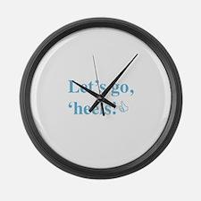 Cute North carolina tar heels Large Wall Clock