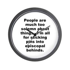 Unique People are much too solemn about things im all.. Wall Clock