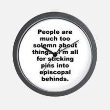 Funny People are much too solemn about things im all.. Wall Clock