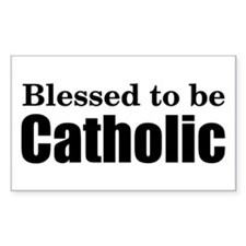 Blessed Catholic Rectangle Decal