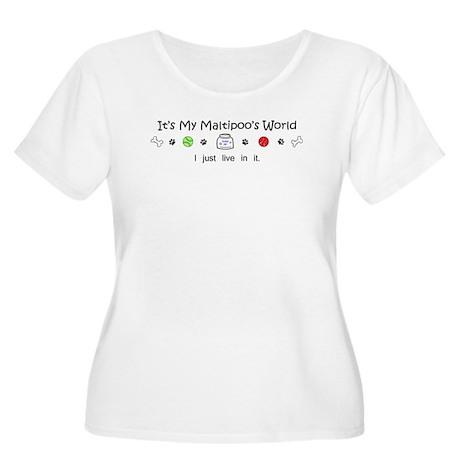 maltipoo Women's Plus Size Scoop Neck T-Shirt