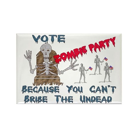 Vote Zombie Party Rectangle Magnet (10 pack)
