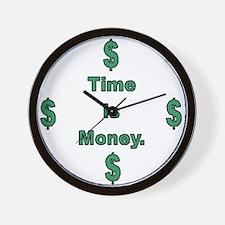 Cute Finances Wall Clock
