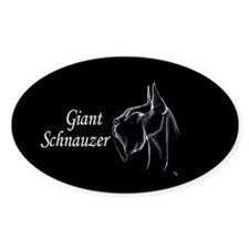 in white and black too Oval Decal