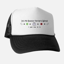 boston terrier Trucker Hat