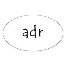 adr Oval Sticker (10 pk)