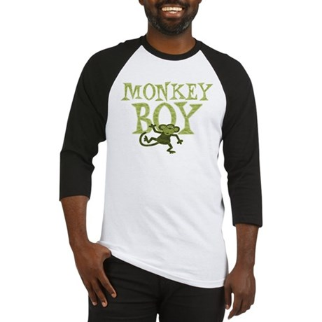 Yellow Monkey Boy Baseball Jersey