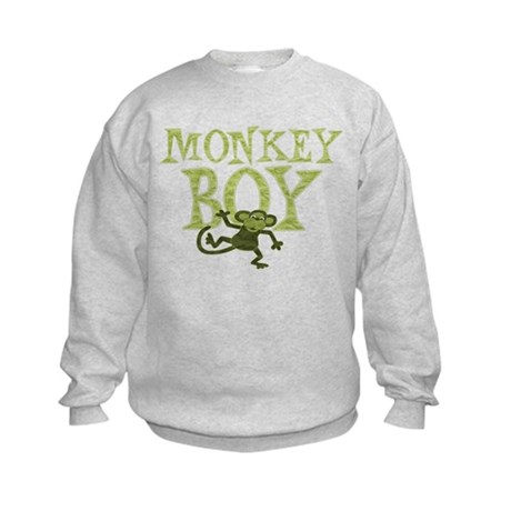 Yellow Monkey Boy Kids Sweatshirt