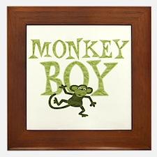 Yellow Monkey Boy Framed Tile