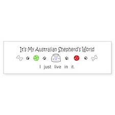 australian shepherd Bumper Bumper Bumper Sticker