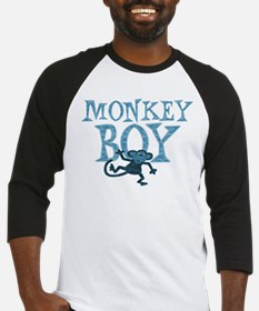 Blue Monkey Boy Baseball Jersey