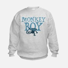 Blue Monkey Boy Sweatshirt