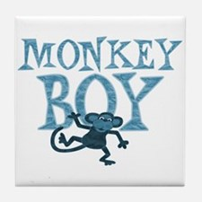 Blue Monkey Boy Tile Coaster
